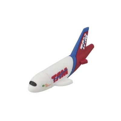 Pen drive Emborrachado Avião 3D - No Ato Brindes