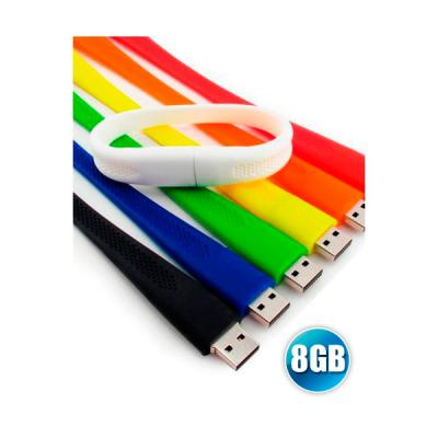 Pulseira pen drive personalizada 8GB
