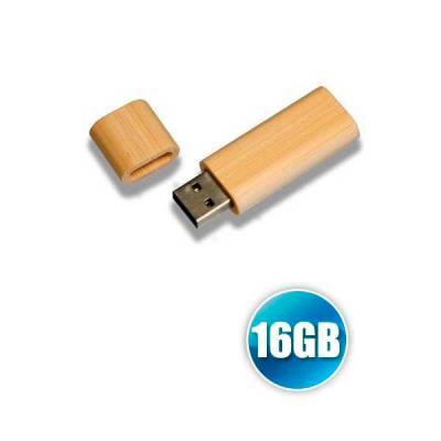 No Ato Brindes - Pen drive 16GB de Bambu