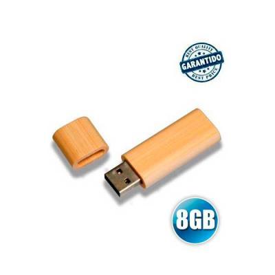 No Ato Brindes - Pen drive 8 GB de Bambu Personalizado
