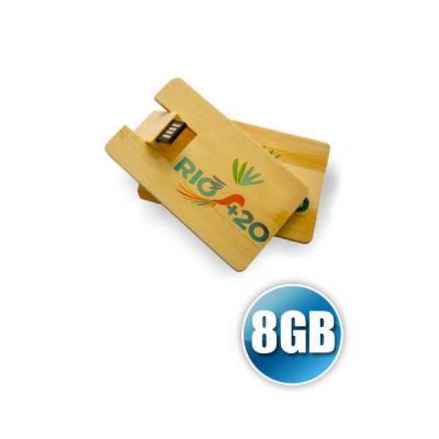 No Ato Brindes - Pen Card 8GB Madeira Personalizado