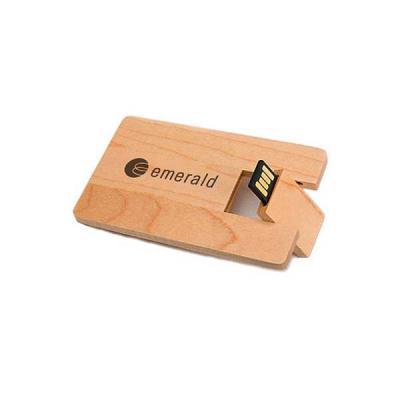 No Ato Brindes - Pen Card 4gb em Madeira Personalizado