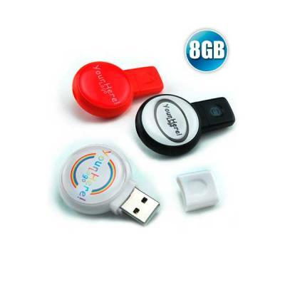 no-ato-brindes - Pen drive 8GB Redondo para Brindes