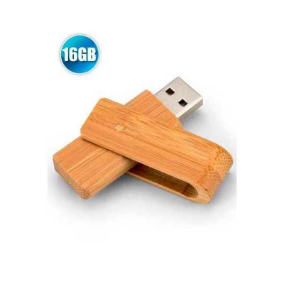 Pen drive 16GB Giratório Ecológico Personalizado - No Ato Brindes