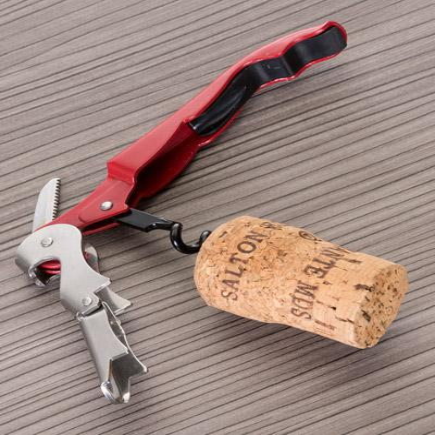 Saca Rolhas Personalizado com Abridor e Canivete - No Ato Brindes
