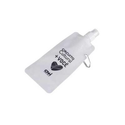 no-ato-brindes - Squeeze Dobrável de Plástico - Brindes Personalizados