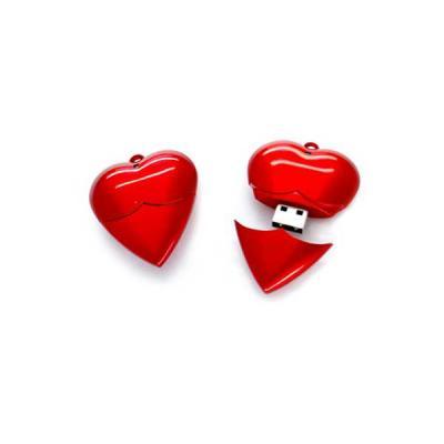 Pen drive Promocional Coração - No Ato Brindes