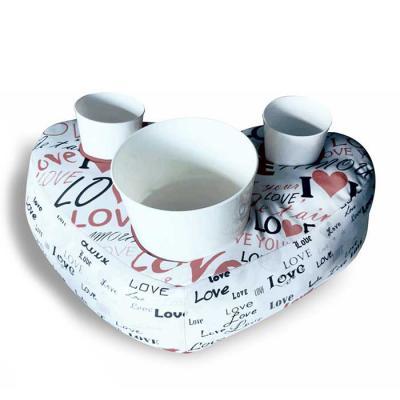 Kit Almofadas de Pipocas Modelo Coração