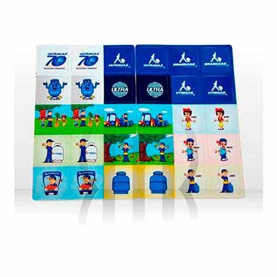 Mobile Promo - Jogo da memória confeccionado emCouchê - PVC - EVA. Impresso em Offset - Silk Screen
