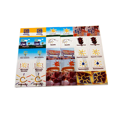 mobile-promo - Jogo da memória confeccionado emCouchê - PVC - EVA. Impresso em Offset - Silk Screen.