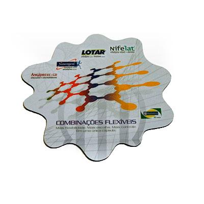 mobile-promo - Mouse Pad confeccionado em PVC - Triplex - Vinil - Borracha.