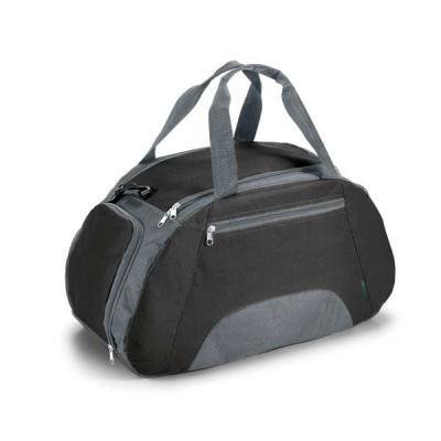 Agitalle Brindes Promocionais - Bolsa esportiva. 600D. Divisória interior, bolso frontal e fundo com placa semi-rígida. Alça de ombro ajustável. 520 x 300 x 255 mm