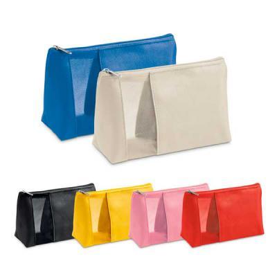 Agitalle Brindes Promocionais - Bolsa de cosméticos. Microfibra e rede. 210 x 130 x 85 mm