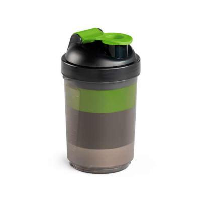 agitalle-brindes-promocionais - Shaker. PP e PE. Com 2 compartimentos para guardar suplementos adicionais (320 ml e 150 ml). Com escala de medição até 500 ml/16 ft oz. Capacidade: 63...