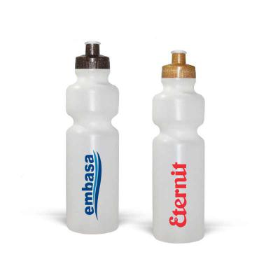 Direct Brindes Personalizados - Squeeze de PE resistente e flexível, tampa rosqueável feita com 50% de Fibra Natural de Coco ou Madeira e bico em PVC cristal. Acabamento e vedação im...