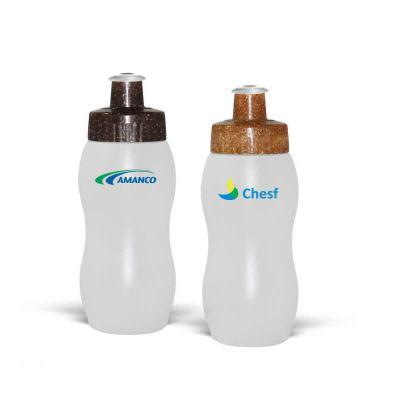 Direct Brindes Personalizados - Squeeze em PE resistente e flexível, 250 mL. Bico em PVC Cristal que permite a vedação impecável. Tampa sustentável, feita com 50% de fibra de coco ou...