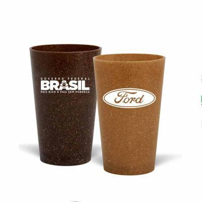 Direct Brindes Personalizados - Copo Cancun personalizado com capacidade para 320 ml. Copo sustentável feito com 50% de fibra de madeira de reflorestamento ou de coco e 50% de PP, re...