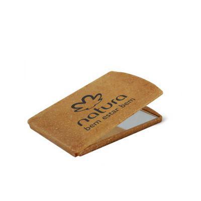 Espelho de bolsa Eco Sustentável personalizado, feito com 50% de Fibra Natural de Coco ou Fibra de Madeira de reflorestamento, plástico especial resis... - Direct Brindes Personalizados