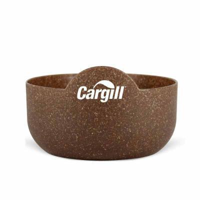 Super Bowl Redondo personalizado. Produto sustentável, feito através do reaproveitamento de resíduo de casca de coco ou de madeira de reflorestamento.... - Direct Brindes Personalizados