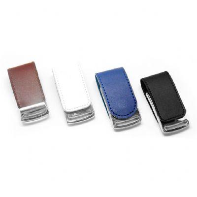 direct-brindes-personalizados - Pen drive fechamento imã-couro