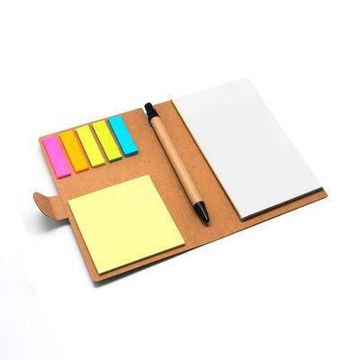 Bloco de anotações Eco com sticky notes - Direct Brindes Personalizados