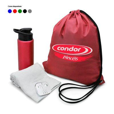 Direct Brindes Personalizados - Kit fitness com mochila saco