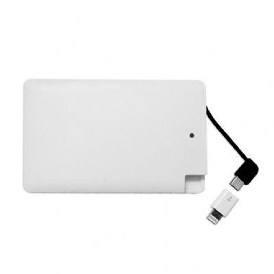 direct-brindes-personalizados - Carregador cartão portátil Power Bank ultrafino
