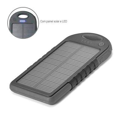 Direct Brindes Personalizados - Bateria Portátil Solar ABS com LED
