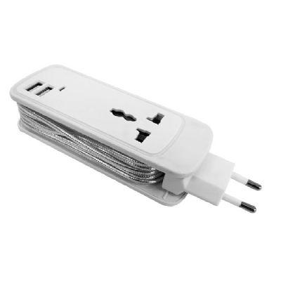 Direct Brindes Personalizados - Carregador tomada com entrada universal e 2 USB