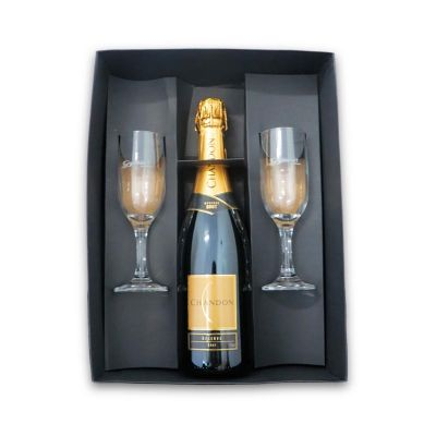 Kit chandon com 2 taças gallant - Direct Brindes Personalizados