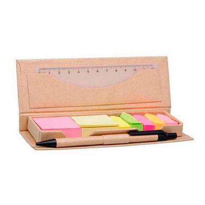 Direct Brindes Personalizados - Bloco de anotações Eco com caneta e régua 12cm