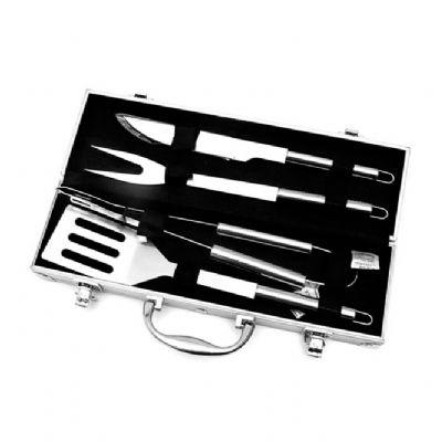 Direct Brindes Personalizados - Kit churrasco maleta 4 peças