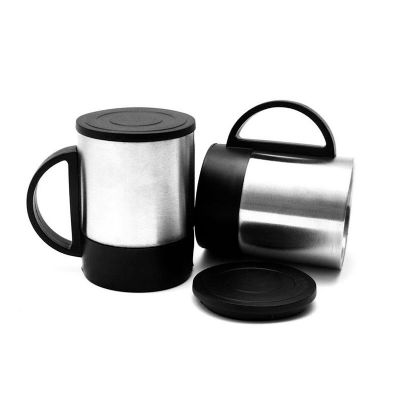 Direct Brindes Personalizados - Caneca térmica de inox 180ml com base preta