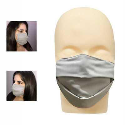 Máscara de tecido Microfibra lavável com elástico sem gravação