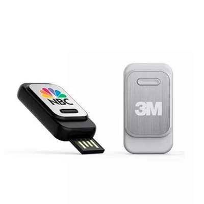 direct-brindes-personalizados - Pen Drive Retrátil de 4GB Personalizado