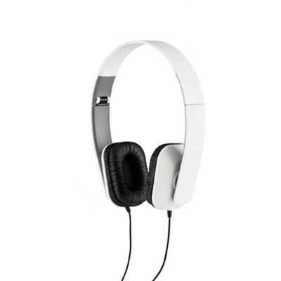 Fone de ouvido dobrável. ABS Personalizado. Cabo de 1,45 m com ligação stereo de 3,5 mm. Fornecid...