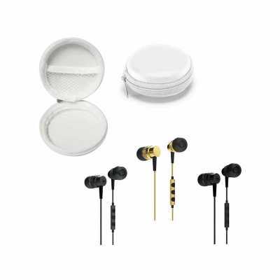 Direct Brindes Personalizados - Fone de Ouvido Hi-Fi Metal com Estojo Personalizado