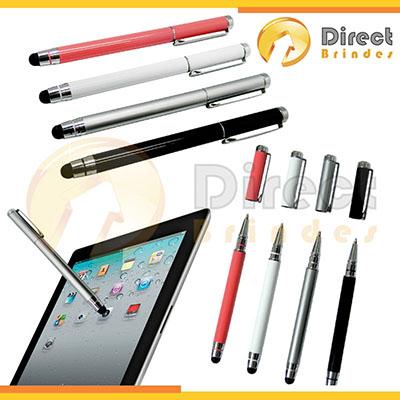 direct-brindes-personalizados - Bastão com ponteira touch para Tablet em Aço Inox muito útil para usar c/ Ipad.