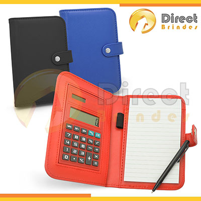 direct-brindes-personalizados - Bloco de anotações color com capa de couro sintético.