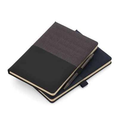 Caderno de anotações com suporte para caneta Personalizado