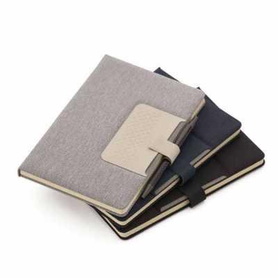 Caderno de anotações Capa dura com suporte para caneta