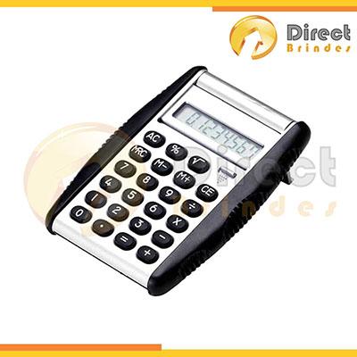 direct-brindes-personalizados - Calculadora prata com detalhe emborrachado.