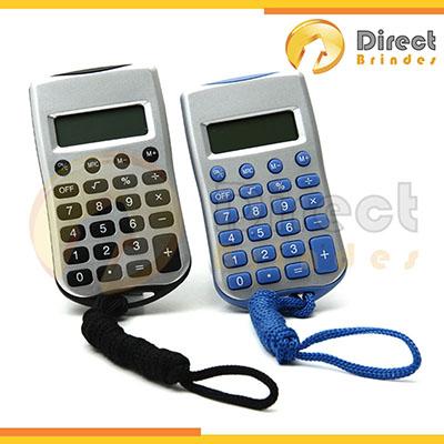 Direct Brindes Personalizados - Calculadora plástica simples com cordão para brindes.