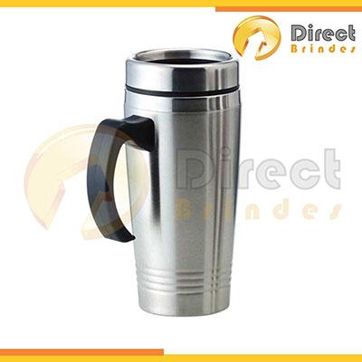 direct-brindes-personalizados - Caneca térmica 450ml em inox.