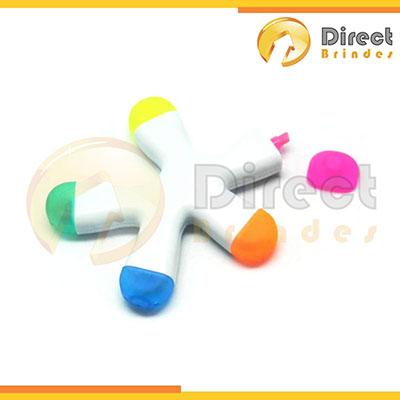 direct-brindes-personalizados - Caneta marca texto Splash com 5 cores.
