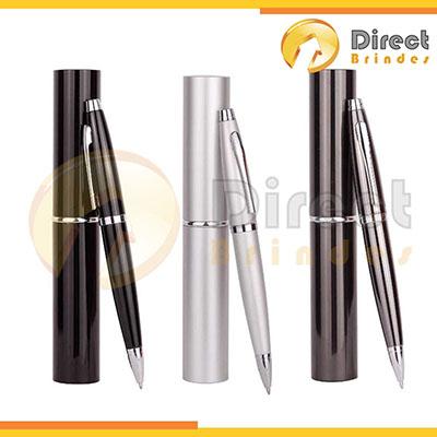 direct-brindes-personalizados - Caneta Metal personalizada com estojo tubinho.