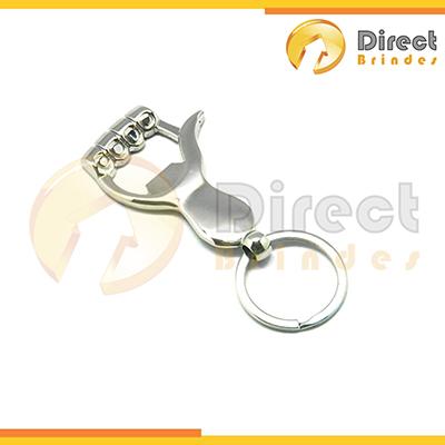 - Chaveiro de metal abridor Modelo Mão 39 Gramas, embalagem saquinho plástico Individual. Personalizado.