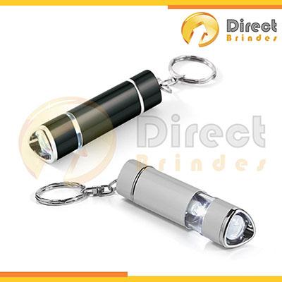 Direct Brindes Personalizados - Mini Chaveiro lanterna, LED em alumínio, 4 pilhas. Para escolas, casas ou escritórios