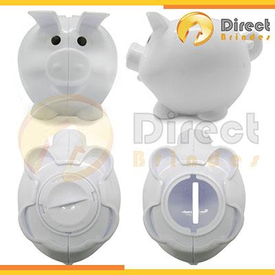 Direct Brindes Personalizados - Cofres Porquinho com abertura em baixo fácil retirar as moeda.