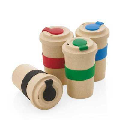 Copo em fibra de bambu personalizado